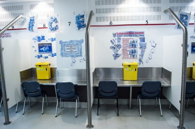 The injecting room at the Medically Supervised Injecting Centre in Kings Cross
